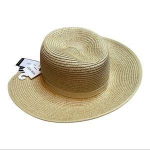 Nine West Woven Floppy Packable Straw Beach Hat